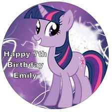 My Little Pony Twilight Sparkle Personalised Wafer Paper Topper For Large Cake
