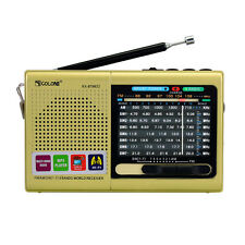 FM/MW/SW World Receiver Emergency Radio Bluetooth Speaker MP3 Player Golden Best