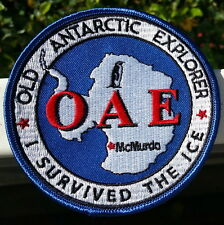 "Antarctica OAE 4"" Patch, Old Antarctic Explorer in blue"