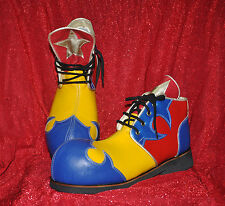 ZYKO Professional Real Leather Clown Shoes 3-color model (ZH020)Red/Yellow/blue