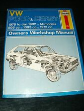 VW POLO AND DERBY WORKSHOP MANUAL 1976 TO JAN 1982