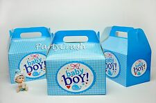 12PCS Baby Boy Birthday Party Goodie Bags Boxes Party Supplies