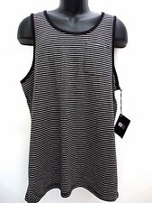 NEW RIP CURL SURFWEAR MEN GILLIGAN TANK BLACK LARGE TOP SHIRT MM101
