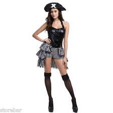 New Sexy Deluxe Pirate Women Halloween Cosplay Female Fancy Dress Party Costumes