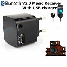 New 3.5mm Bluetooth 3.0 Audio Music Receiver Adapter Dongle With USB Charger