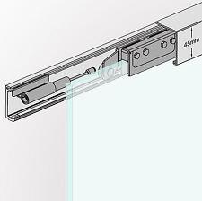 Slim Line Soft Stop Glasschiebetür Schiebetür System 180cm Alu-Blende AS-180
