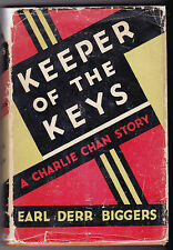 Earl Derr Biggers - Keeper of the Keys - Charlie Chan - 1932 in RARE Dustwrapper