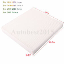 CABIN AIR FILTER FOR TOYOTA LEXUS CAMRY RAV4 AVALON COROLL TUNDRA SUBARU 4RUNNER
