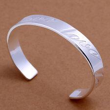 """Damen Armreif Gravur """"Love"""" pl. mit Sterlingsilber Armband, Damenarmreif DB014"""