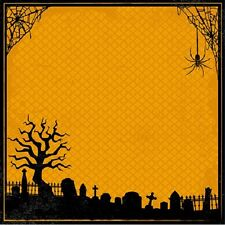 Scrapbook Paper 3D 12 x 12 inches GRAVEYARD 2 Sheets   BBE