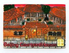 FRIDGE MAGNET RESIN 3D SOUVENIR BEIJING COURTYARD HOUSES CHINA