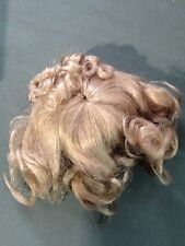 Global Dolls Hand Styled Doll Wig Short Ash Blonde Curls Gibson Girl Style Updo