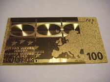 BILLET 100 EUROS REPLICA OR GOLD 24K