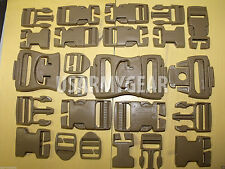 2 Set-32-ILBE USMC MOLLE US ARMY QUICK RELEASE Buckles WEBBING Desert Tan Coyote