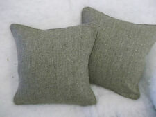 "Harris Tweed  1pr CUSHION COVERS IN  BARLEYTWIST OATMEAL 17""X17"""