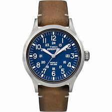 "Timex TW4B01800, Men's ""Expedition"" Brown Leather Watch, Scout, TW4B018009J"