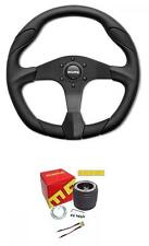 Momo Quark Black 350mm Steering Wheel and Momo boss Audi TT Mk1 98-06