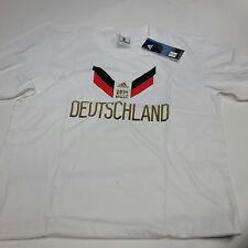Adidas Originals DFB Deutschland Fußball T-Shirt, weiß mit Motiv - B-Ware Gr. L