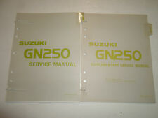 1983 Suzuki GN250 Service Repair Shop Manual  3 VOL SET FACTORY OEM BOOK 83 DEAL