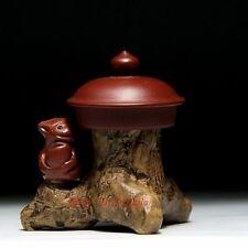 Chinese Yixing Purple Clay Zisha Tea Pet Stump Teapot Lid Holder