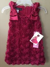 Girls 6 Biscotti Christmas Holiday Rosette Standing Ovation Dress NEW NWT Red
