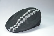 KANGOL BOX ARGYLE STRIPE 504 MENS TRADITIONAL HAT FLAT CAP LARGE NEW NWT