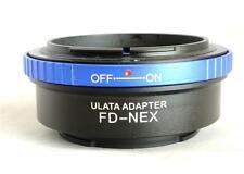 ULATA Lens Mount Adapter Canon FD to Sony E FE NEX Mount A7 NEX 6 FD-NEXBL