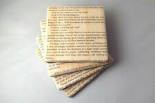 Harry Potter Book Page Tile Coasters. Felt Backed, Set of Four,