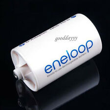 White AA to D D-Adaptor NCS-TG-D Eneloop Battery Converter for Sanyo new
