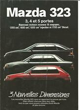 Catalogue brochure Katalog Prospekt MAZDA 323 ANNEE 1990 10  PAGES