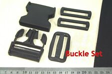 1 Set Bag Buckle 60mm Plastic Side Release Buckle, Rectangle ring, Ladder slider