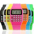 Kid Child Electronic Calculator Wrist Watch JT68 Silicone Date Multi-Purpose