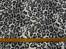 "10mts REALLY TOP QUALITY LEOPARD PRINT STRETCH JERSEY FABRIC 58""wide GREY"