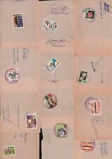 ECUADOR 1990 COVER CUTS (12) FLOWERS (2)  AVIANCA (2) SHIP ITALIA 90´ ARCHEOLOGY