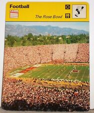 The Rose Bowl Stadium Games NCAA History 1977 Football Sportscaster Card 09-22
