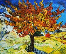 Handmade Oil Painting repro Vincent Van Gogh Mulberry Tree