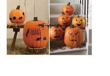 Martha Stewart Halloween Pumpkin Transfers Pumpkin Faces and Mice Set of 2