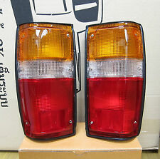 Fits Toyota Pickup Truck 4Runner Taillamps Rear Taillights Black Trim Set Pair