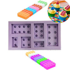 DIY Brick Blocks Cupcake Silicone Mold Fondant Cake Decorating Tools Mould Bake