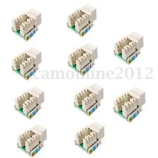 10x Cat5E RJ45 LAN Wall Punch Down Keystone Jack Modular Network Ethernet White