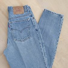 vtg 90s Levi's 550 High Waisted Relaxed tapered Medium Wash Mom jeans 27in waist