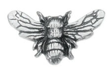 """Danforth Pewter 3/4"""" Wide Shank Style Bee Design Buttons - Set of 2"""