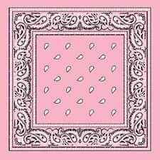 "XL LIGHT PINK PAISLEY Bandana 27"" BIG Bandana BANDANNA Scarf Scarve Head Wrap"