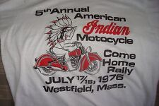 VINTAGE sz 42-44 1977 5th ANNUAL INDIAN MOTORCYCLE COME HOME RAL