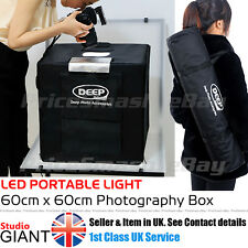 PROFESSIONAL PHOTO STUDIO KIT LED 60CM LIGHT BOX CUBE TENT PORTABLE PHOTOGRAPHY