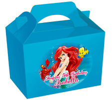 36X LARGE Personalised Ariel the Little Mermaid lnspired Stickers NO PARTY BOXES