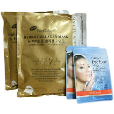 [SET] Purederm Gold Hydro Collagen Mask 2 Pack 50Sheet + Eye Zone Mask 60 Sheet