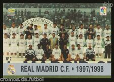 #2. PLANTILLA - Real Madrid CF  1997/1998 - CARD Mundicromo