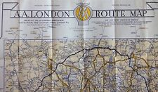 Vintage AA London West End & Route Maps.