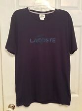 Lacoste Men's T Shirt Sz 5 Medium Short Sleeve Navy Blue Regular Fit NWT